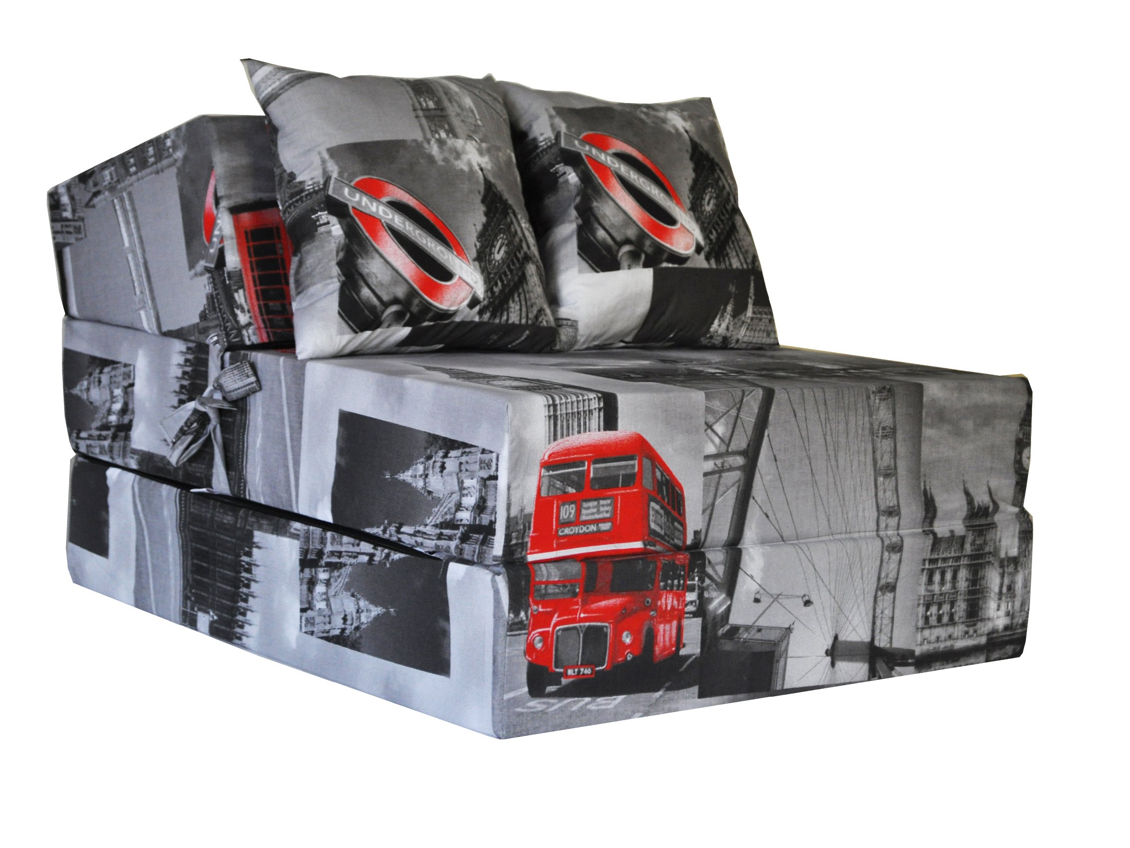 FIMEX Praktické rozkládací křeslo vzor LONDON 70x200x15