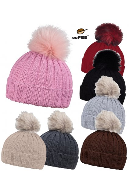 Zimní dámská čepice Rib fur