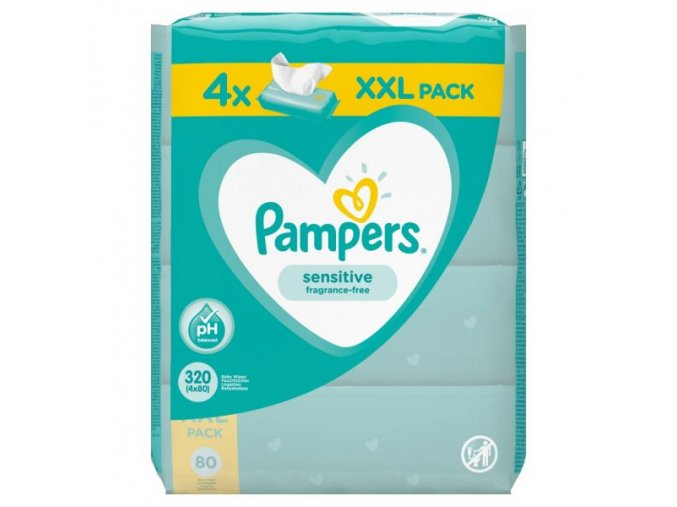 pampers vlhcene ubrousky sensitive 4 x 80 ks