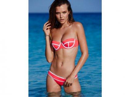 Dámské plavky Victoria Secret lososové push-up
