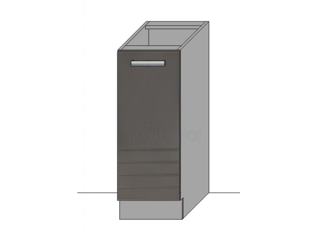 Paula šedá/mocca dolní D30 P/L