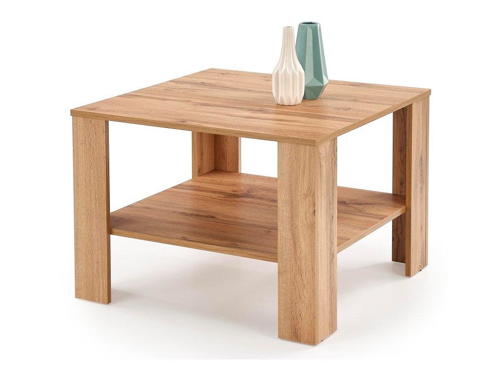 Kwadro kwadrat konferenční stolek dub votan