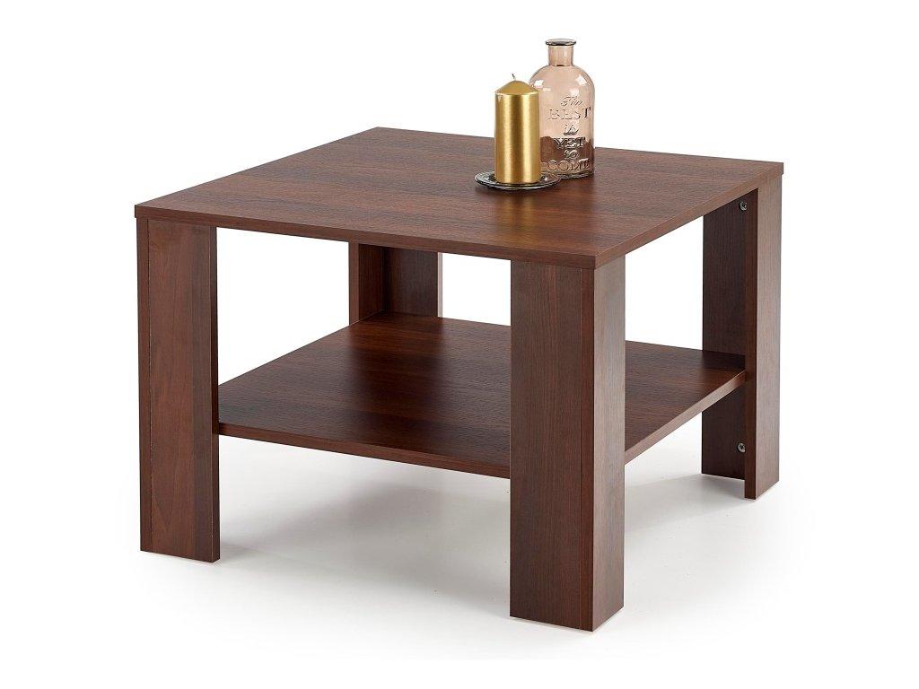Kwadro kwadrat konferenční stolek tmavý ořech