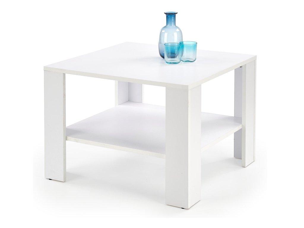 Kwadro kwadrat konferenční stolek bílý