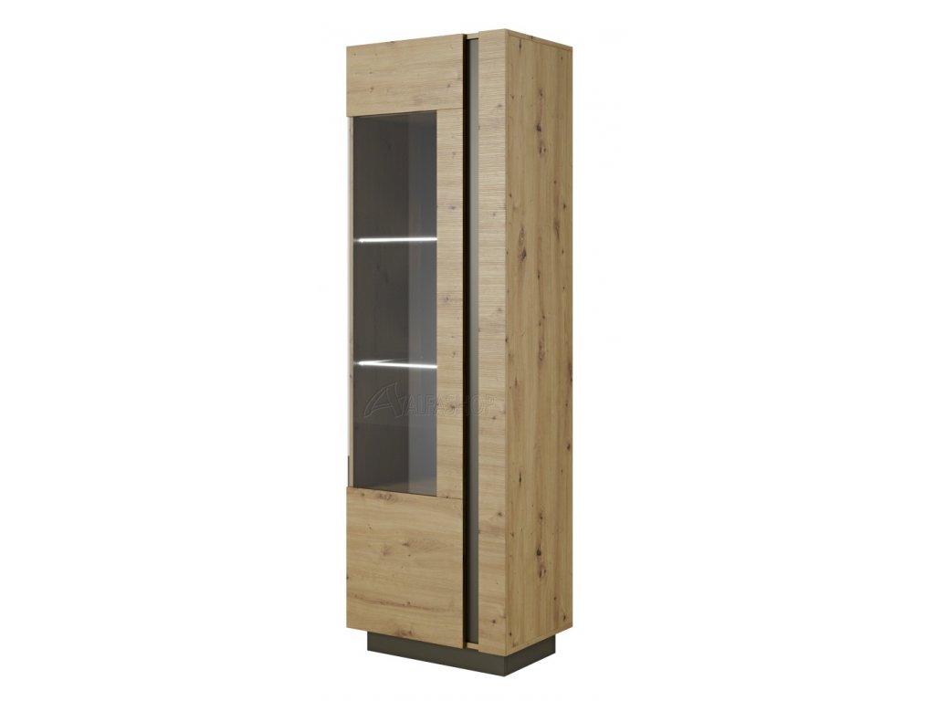 Arko vitrína vysoká dub artisan