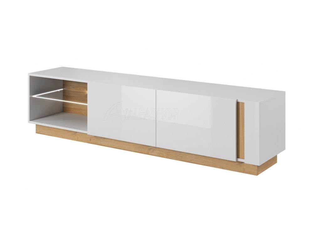 Arko tv stolek 187 bílá lesk
