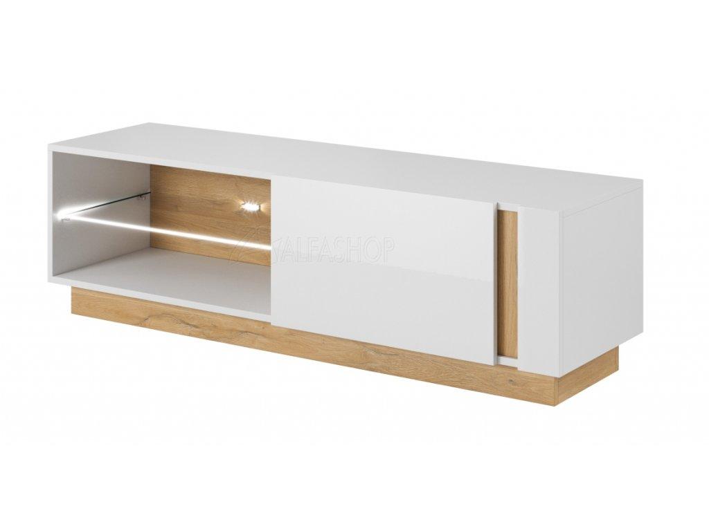 Arko tv stolek 138 bílá lesk