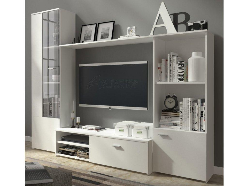 Obývací stěna Hugo 5 bílá