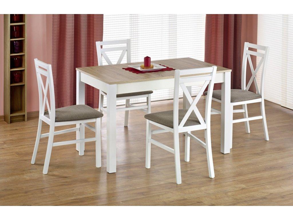 Maurycy jídelní stůl dub sonoma s bílou