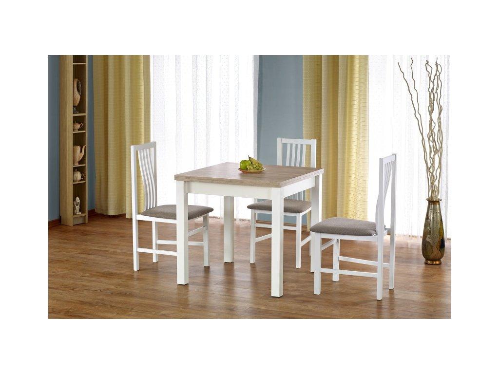 Gracjan jídelní stůl dub sonoma s bílou