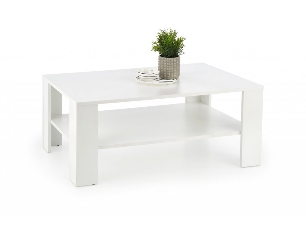 Kwadro konferenční stolek bílý