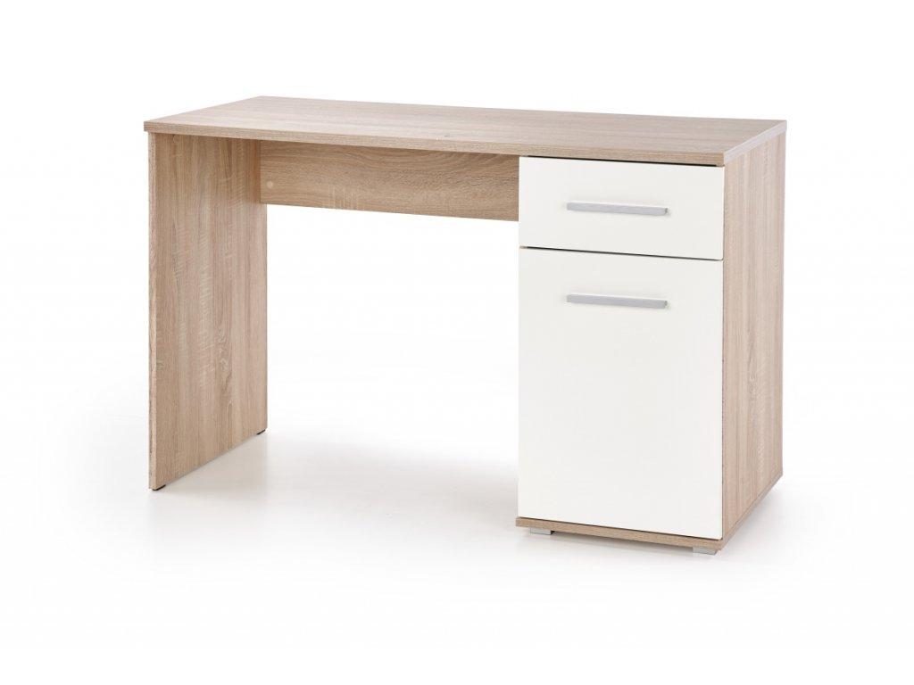 Limma-B1 psací stůl dub sonoma s bílou