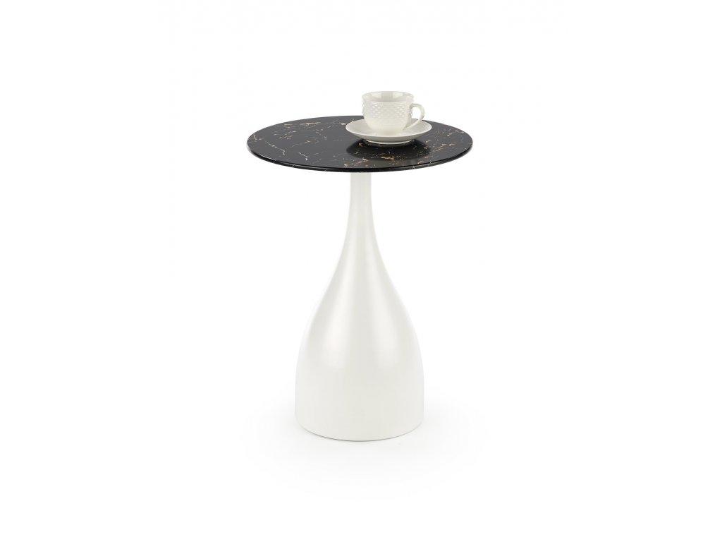PATRIZIA c. stůl černý mramor / bílý