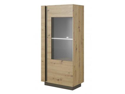 Arko vitrína nízká dub artisan