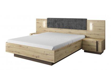 Arko postel 160 s nočními stolky dub artisan