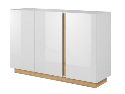 Arko komoda 3D bílá lesk
