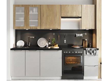 Kuchyně Zoya 240 dub/šedá