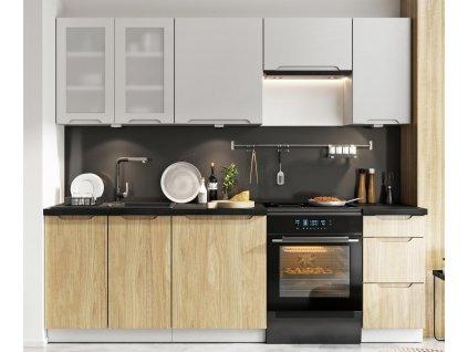 Kuchyně Zoya 240 šedá/dub
