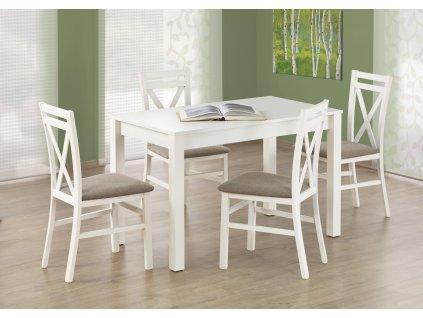 Ksawery jídelní stůl bílý + 4 židle