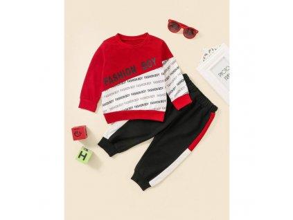 Červená teplákovka Fashion Boy
