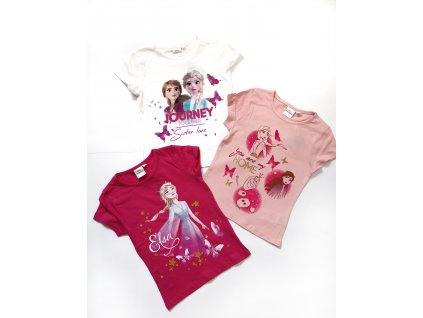 Tričko Frozen světle růžové