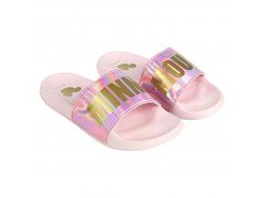 Pantofle Minnie růžové