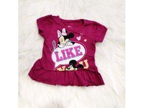 Fialové Minnie tričko