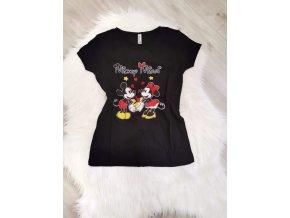 Černé tričko Mickey Minnie