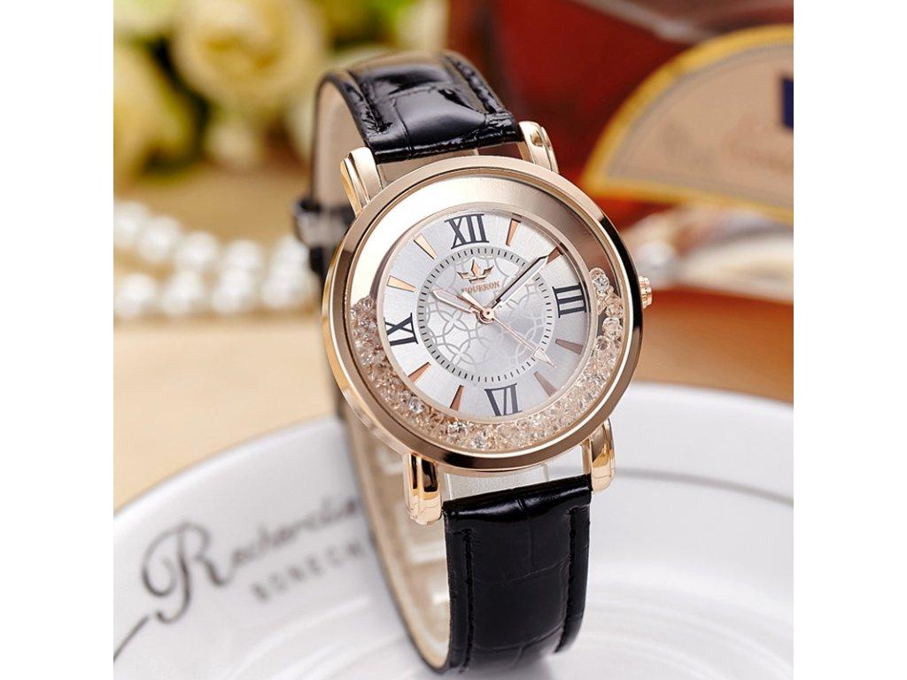 9a247a79502 Luxusní dámské hodinky s krystaly bílé Luxusní dámské hodinky s krystaly  černé ...