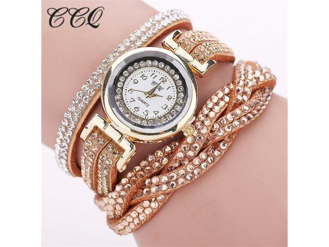 Dámské módní kožené hodinky (Barvy bílá)