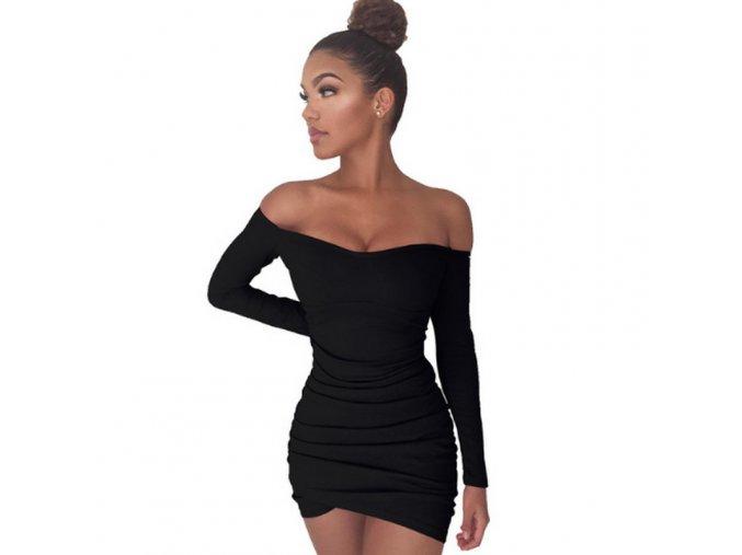Dámské mini šaty s dlouhým rukávem