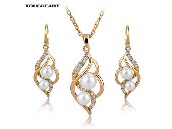 Dámská sada šperků s perlou (Varianta 4)
