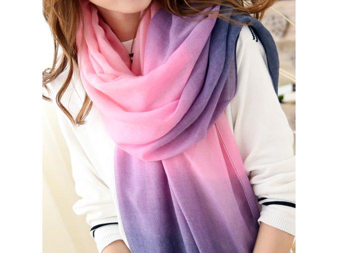Dámský módní šál (barva fialová, Velikost Univerzální)