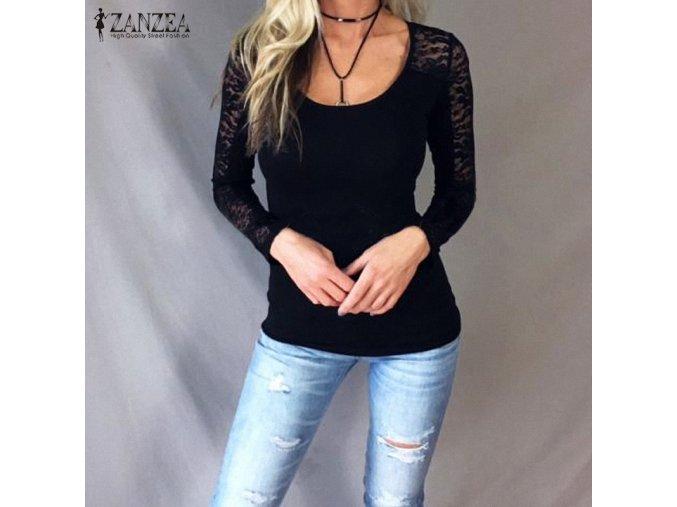 Dámské triko Dita (barva černá, Velikost L)