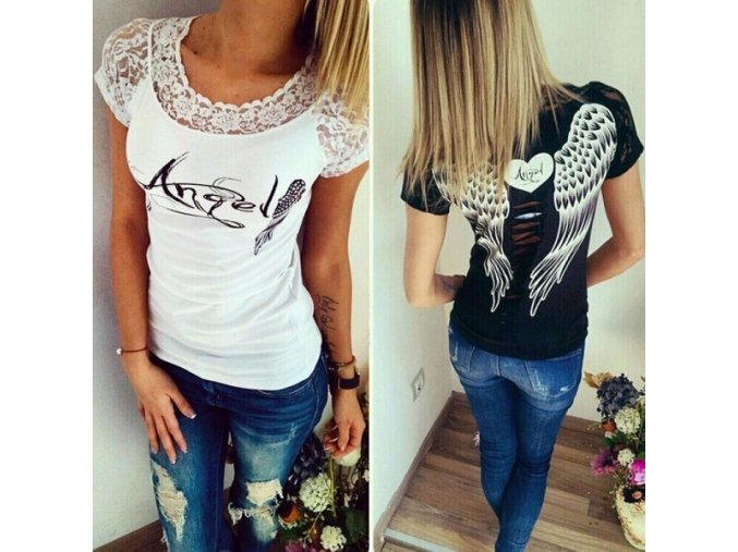 Dámské módní tričko Angel