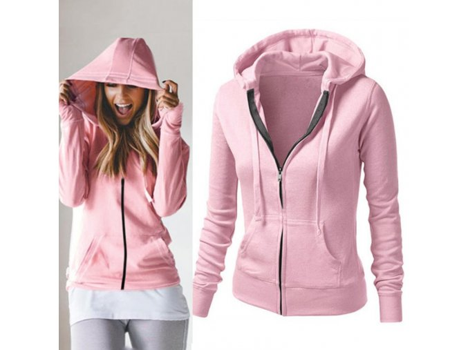 2016 Spring Autumn Hoodies female Cotton Zipper Full Sleeve Hooded Casual Hoodies Slim Sweatshirts women Plus