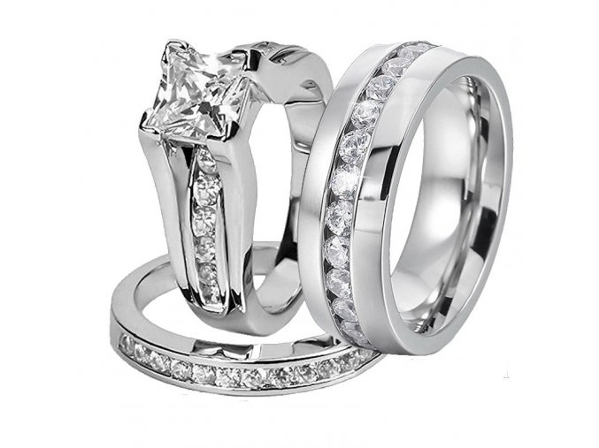 Svatební prstýnky s kamínky