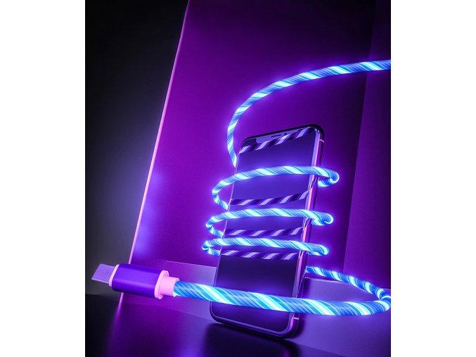 Svítící nabíjecí kabel