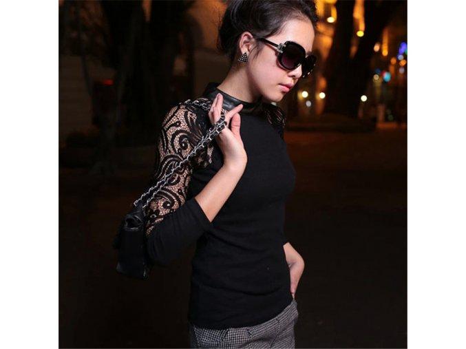 Dámské elegantní triko (barva šedá, Velikost 2XL)