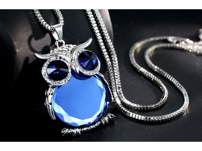 Dámský náhrdelník Owl Crystal (Varianta 6)