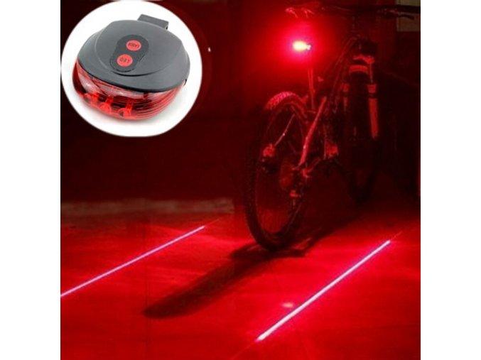 Zadní světlo na kolo Laser rider (Varianta modrá)
