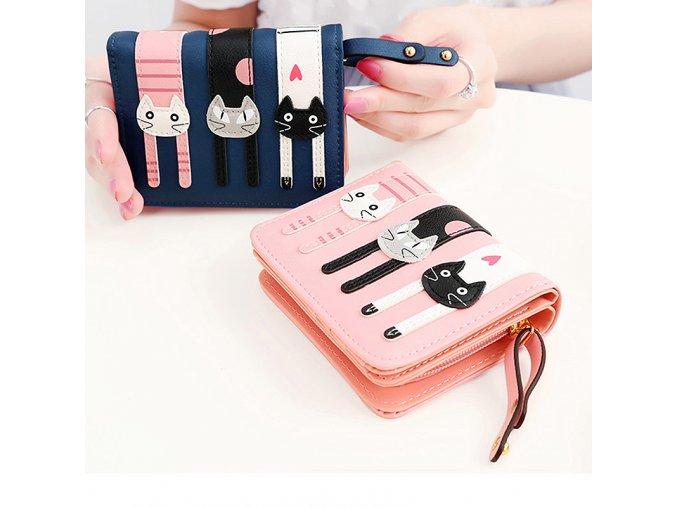 Stylové dámské peněženky s kočkami