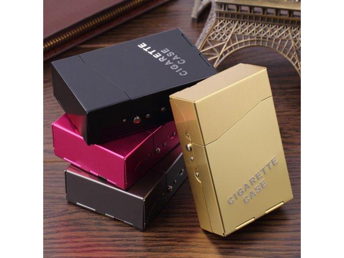 Pouzdro na cigarety různé barvy (barva růžová)
