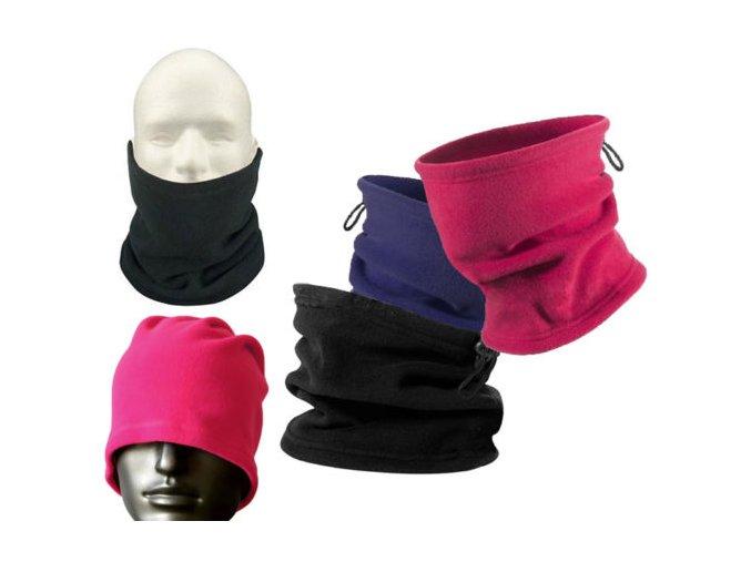 3v1 unisex outdoor nákrčník, maska na obličej, čepice (Barvy béžová)