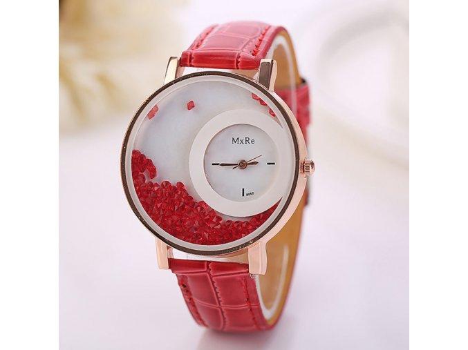 Stylové dámské hodinky červené