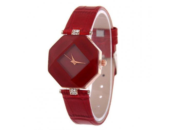 Módní dámské hodinky červené