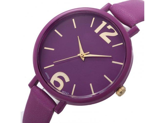 Moderní dámské hodinky fialové
