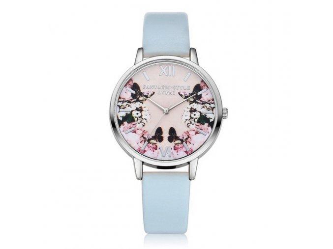 Dámské hodinky s květinami - SLEVA 75% (Barva Růžová)