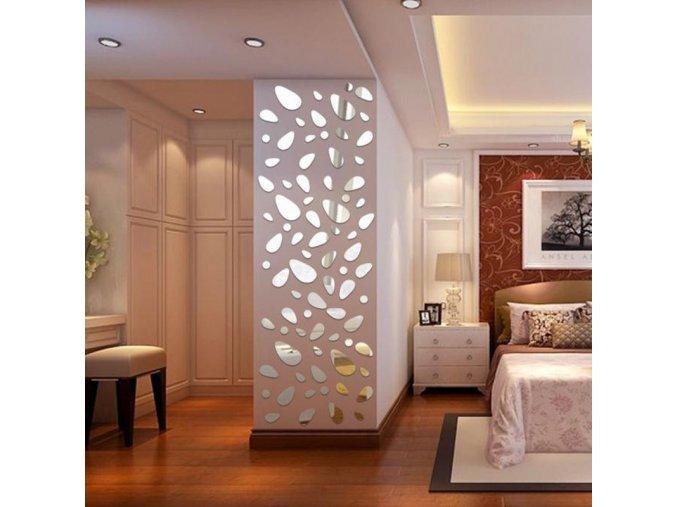 Zrcadlová dekorace na zeď