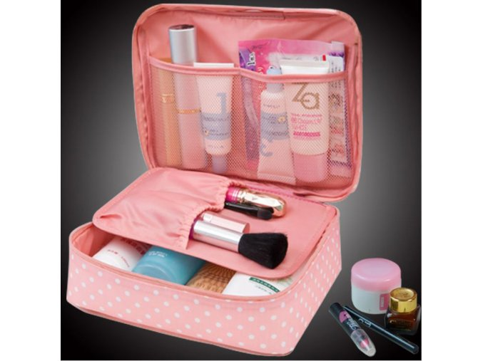 Kosmetická taška s puntíky